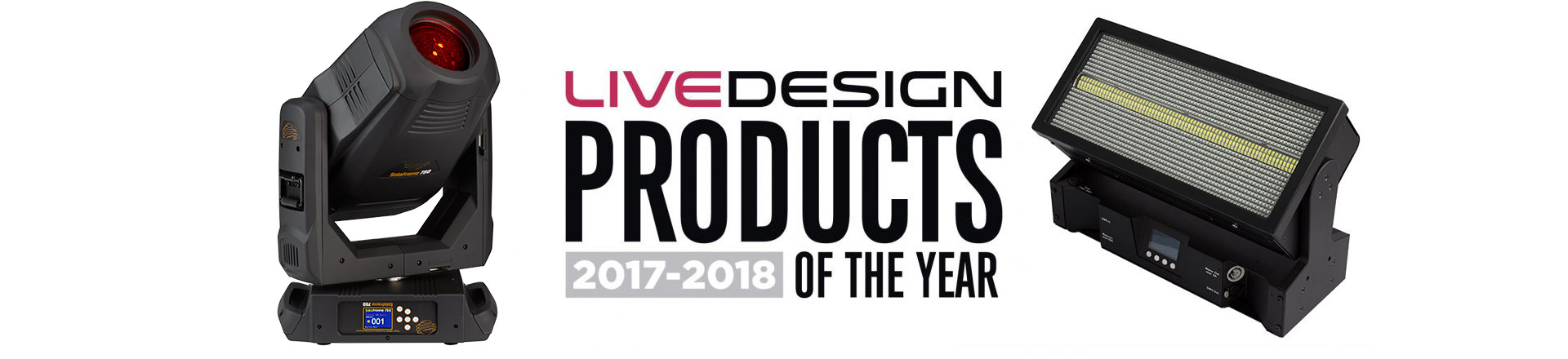 "Nagrody ""Product of the Year"" według Live Design 2017-2018"